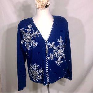 Vintage Belle Pointe Snowflake Sweater